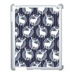 Geometric Deer Retro Pattern Apple iPad 3/4 Case (White)