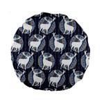 Geometric Deer Retro Pattern Standard 15  Premium Round Cushions