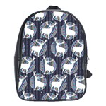 Geometric Deer Retro Pattern School Bags (XL)