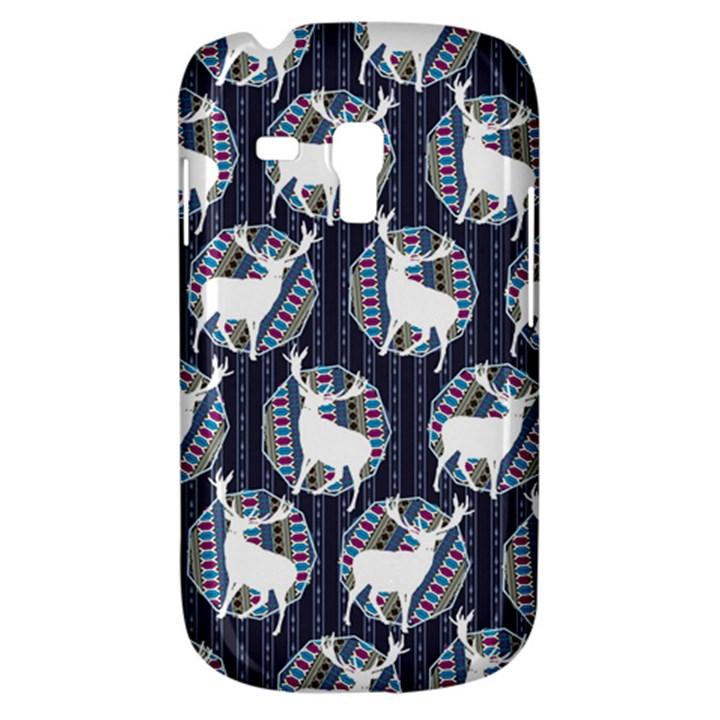 Geometric Deer Retro Pattern Samsung Galaxy S3 MINI I8190 Hardshell Case