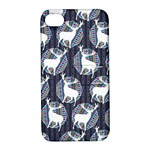 Geometric Deer Retro Pattern Apple iPhone 4/4S Hardshell Case with Stand
