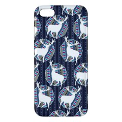 Geometric Deer Retro Pattern Apple Iphone 5 Premium Hardshell Case by DanaeStudio
