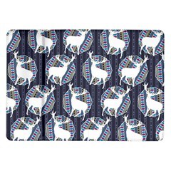 Geometric Deer Retro Pattern Samsung Galaxy Tab 10 1  P7500 Flip Case