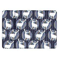 Geometric Deer Retro Pattern Samsung Galaxy Tab 8 9  P7300 Flip Case by DanaeStudio