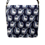 Geometric Deer Retro Pattern Flap Messenger Bag (L)