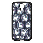 Geometric Deer Retro Pattern Samsung Galaxy S4 I9500/ I9505 Case (Black)