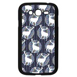 Geometric Deer Retro Pattern Samsung Galaxy Grand DUOS I9082 Case (Black) Front