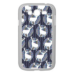 Geometric Deer Retro Pattern Samsung Galaxy Grand Duos I9082 Case (white) by DanaeStudio