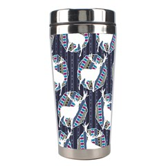 Geometric Deer Retro Pattern Stainless Steel Travel Tumblers by DanaeStudio