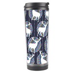 Geometric Deer Retro Pattern Travel Tumbler Left
