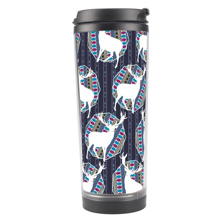 Geometric Deer Retro Pattern Travel Tumbler