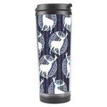 Geometric Deer Retro Pattern Travel Tumbler Right