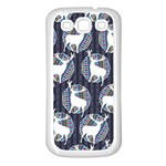 Geometric Deer Retro Pattern Samsung Galaxy S3 Back Case (White)