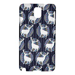 Geometric Deer Retro Pattern Samsung Galaxy Note 3 N9005 Hardshell Case by DanaeStudio
