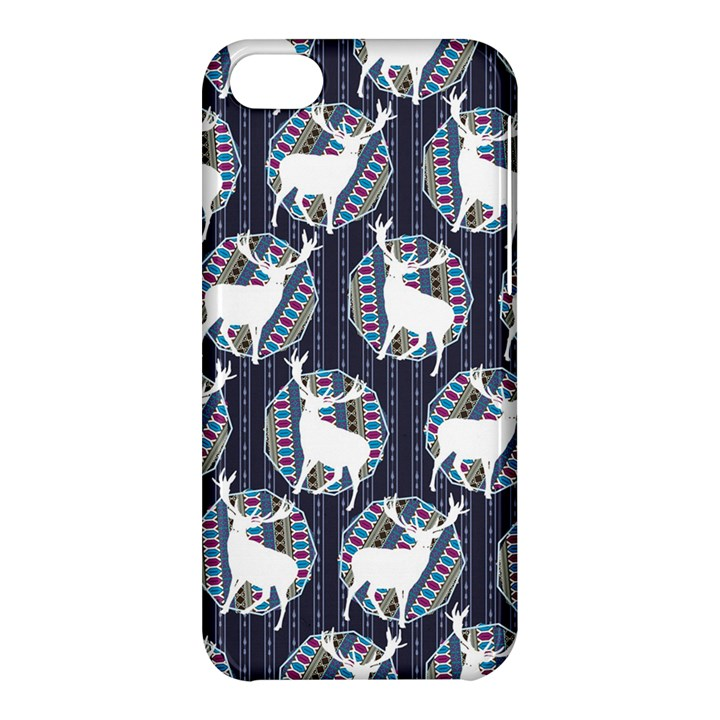 Geometric Deer Retro Pattern Apple iPhone 5C Hardshell Case