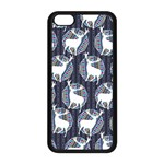 Geometric Deer Retro Pattern Apple iPhone 5C Seamless Case (Black)