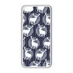 Geometric Deer Retro Pattern Apple iPhone 5C Seamless Case (White)