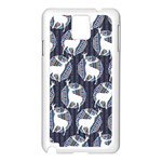 Geometric Deer Retro Pattern Samsung Galaxy Note 3 N9005 Case (White)