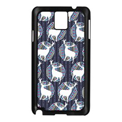 Geometric Deer Retro Pattern Samsung Galaxy Note 3 N9005 Case (black)