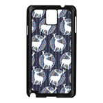 Geometric Deer Retro Pattern Samsung Galaxy Note 3 N9005 Case (Black) Front