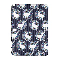 Geometric Deer Retro Pattern Samsung Galaxy Note 10 1 (p600) Hardshell Case by DanaeStudio