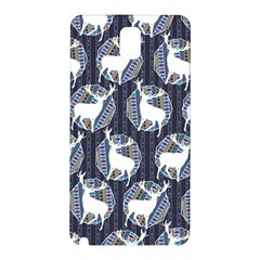 Geometric Deer Retro Pattern Samsung Galaxy Note 3 N9005 Hardshell Back Case by DanaeStudio