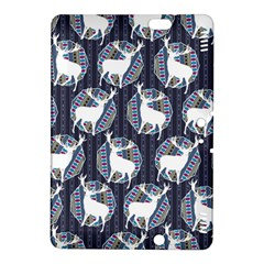 Geometric Deer Retro Pattern Kindle Fire Hdx 8 9  Hardshell Case