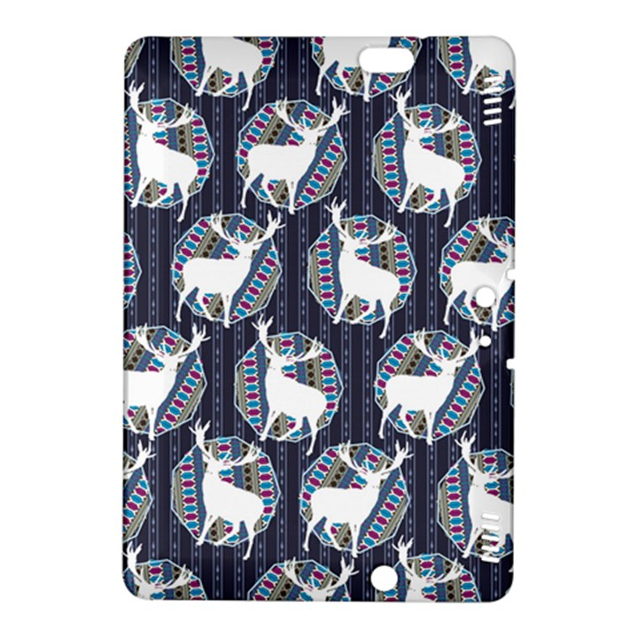 Geometric Deer Retro Pattern Kindle Fire HDX 8.9  Hardshell Case