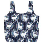 Geometric Deer Retro Pattern Full Print Recycle Bags (L)