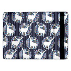Geometric Deer Retro Pattern Samsung Galaxy Tab Pro 12 2  Flip Case