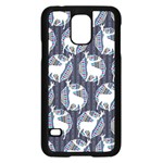 Geometric Deer Retro Pattern Samsung Galaxy S5 Case (Black)