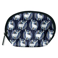Geometric Deer Retro Pattern Accessory Pouches (medium)