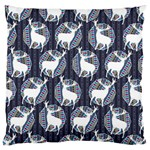 Geometric Deer Retro Pattern Large Flano Cushion Case (One Side)