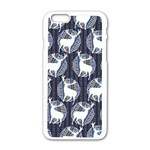 Geometric Deer Retro Pattern Apple iPhone 6/6S White Enamel Case