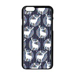 Geometric Deer Retro Pattern Apple iPhone 6/6S Black Enamel Case