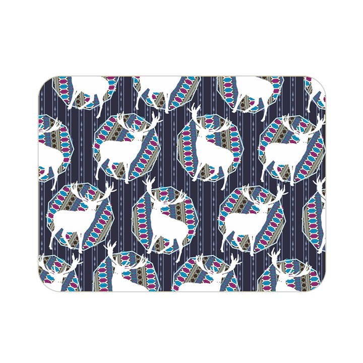 Geometric Deer Retro Pattern Double Sided Flano Blanket (Mini)