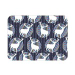 Geometric Deer Retro Pattern Double Sided Flano Blanket (Mini)  35 x27 Blanket Back