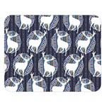 Geometric Deer Retro Pattern Double Sided Flano Blanket (Large)