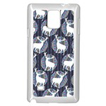 Geometric Deer Retro Pattern Samsung Galaxy Note 4 Case (White)