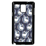 Geometric Deer Retro Pattern Samsung Galaxy Note 4 Case (Black)