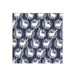 Geometric Deer Retro Pattern Satin Bandana Scarf Front