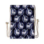 Geometric Deer Retro Pattern Drawstring Bag (Small)