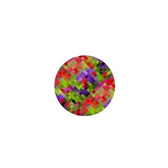 Colorful Mosaic 1  Mini Magnets by DanaeStudio