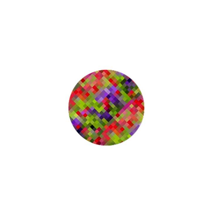 Colorful Mosaic 1  Mini Magnets