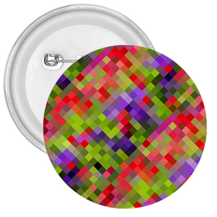 Colorful Mosaic 3  Buttons