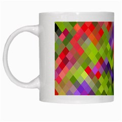 Colorful Mosaic White Mugs by DanaeStudio