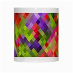 Colorful Mosaic White Mugs Center