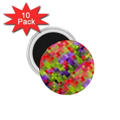 Colorful Mosaic 1 75  Magnets (10 Pack)  by DanaeStudio
