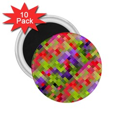 Colorful Mosaic 2 25  Magnets (10 Pack)  by DanaeStudio