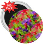 Colorful Mosaic 3  Magnets (100 pack) Front